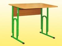 Стол ученический, 1-местный, регулируемый по высоте, без полки
